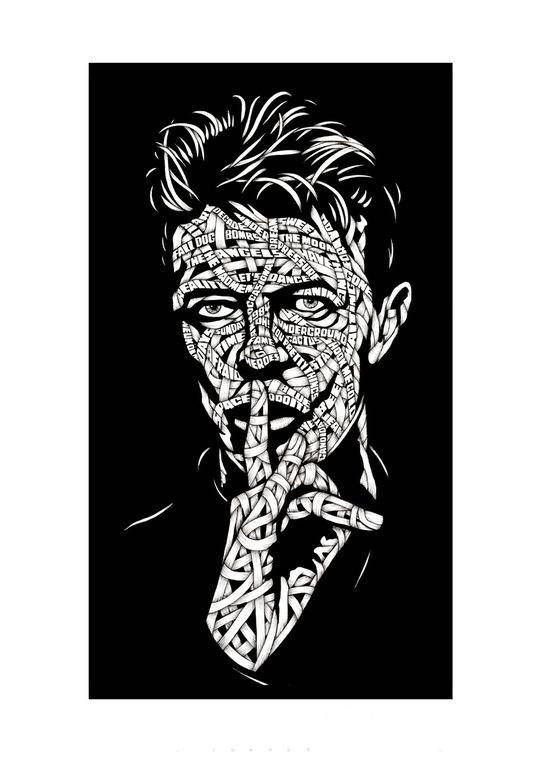Drawings.David Bowie Shhh! Let's Dance