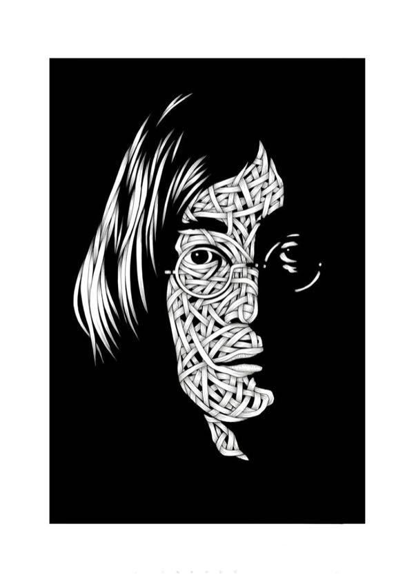 Drawings.John Lennon 1