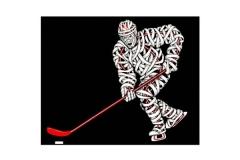 Drawings.Ice Hockey Player