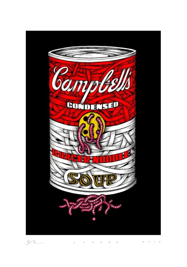 Giclee_Print.Can of Worms