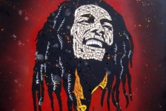 Giclee_Print.Bob Marley red