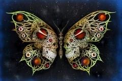 Giclee_Print.Skulls Key Blue