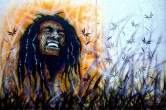 Bob Marley Enjoying. Hoxton Street