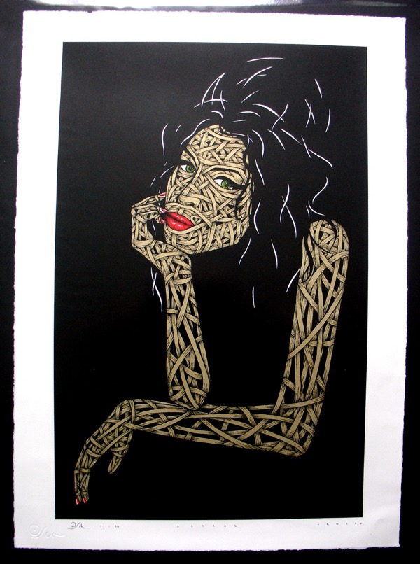 Silk_Screen_Print.Amy Winehouse Gold Edition