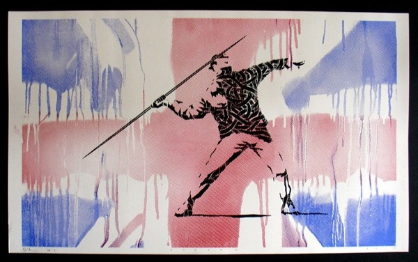 Silk_Screen_Print.Homage to Banksy FTO Flag