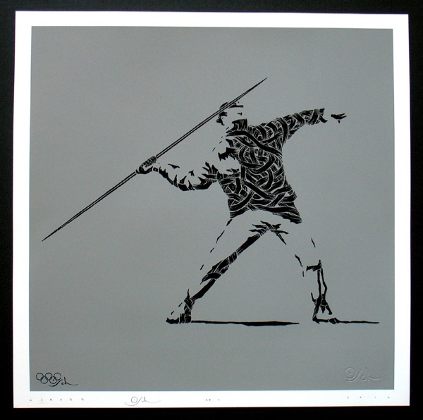 Silk_Screen_Print.Homage to Banksy FTO Grey