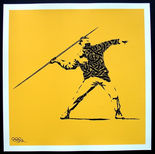 Silk_Screen_Print.Homage to Banksy FTO Yellow