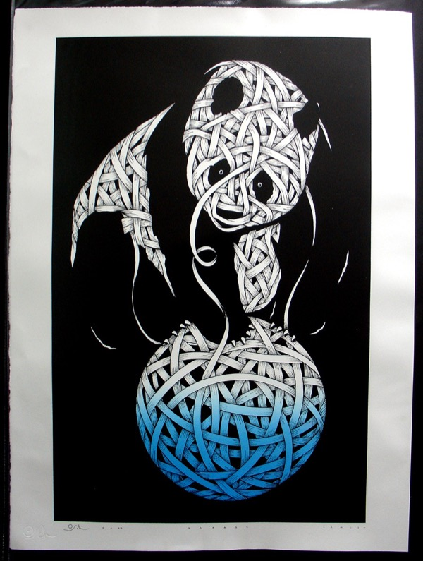 Silk_Screen_Print.Panda Blue