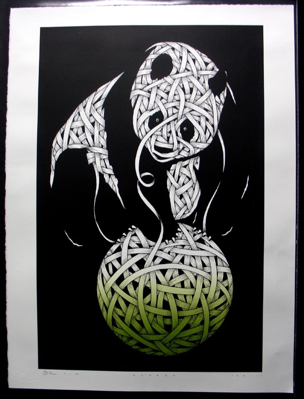 Silk_Screen_Print.Panda Green