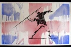 Silk_Screen_Print.Homage to Banksy FTO Flag