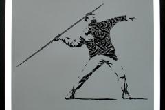 Silk_Screen_Print.Homage to Banksy FTO Grey