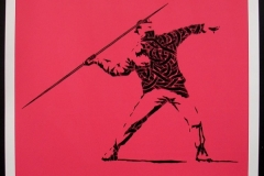 Silk_Screen_Print.Homage to Banksy FTO Red