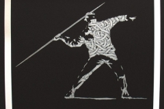 Silk_Screen_Print.Homage to Banksy FTO Silver
