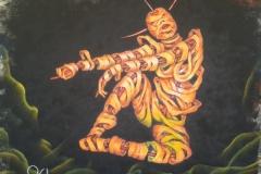 Andromeda, Stencil graffiti on wall, Ibiza, 2013