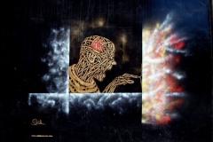 Big Mistake. Shoreditch, Dimensions- 300 x 200cm, Stencil Graffiti on Wall (Deleted)