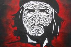 Che, Stencil Graffiti on Wall, Mother Bar Shoreditch, 2011