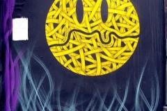 London Smiley, Stencil Graffiti on Wall, Mother Bar, Shoreditch, 2011