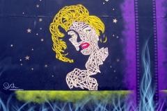 Marilyn, Stencil Graffiti on Wall, Mother Bar, Shoreditch, 2011