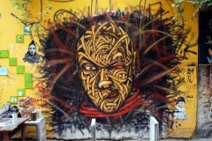 Personality Disorders. Berlin, Dimensions- 240 x 240cm, Stencil Graffiti on Garage Doors, Mitte Schwarzenberghaus