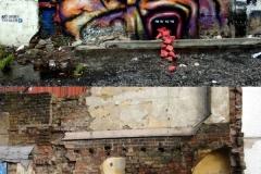Talking Bullocks, Stencil Graffiti on Wall, Hackney Road, Hoxton, 2012