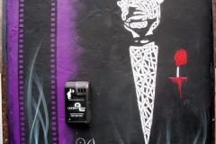The Godfather, Old Street, Dimensions- 240 x 150cm, Stencil Graffiti on Wall (Deleted)