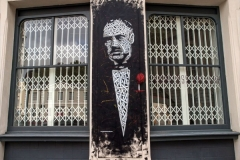 The Godfather, Stencil Graffiti on Wall, Frameless Gallery, Clerkenwell Green, 2012