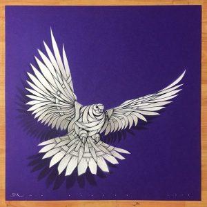 Silkscreen Prints|Hand Sprayed Stencil Print