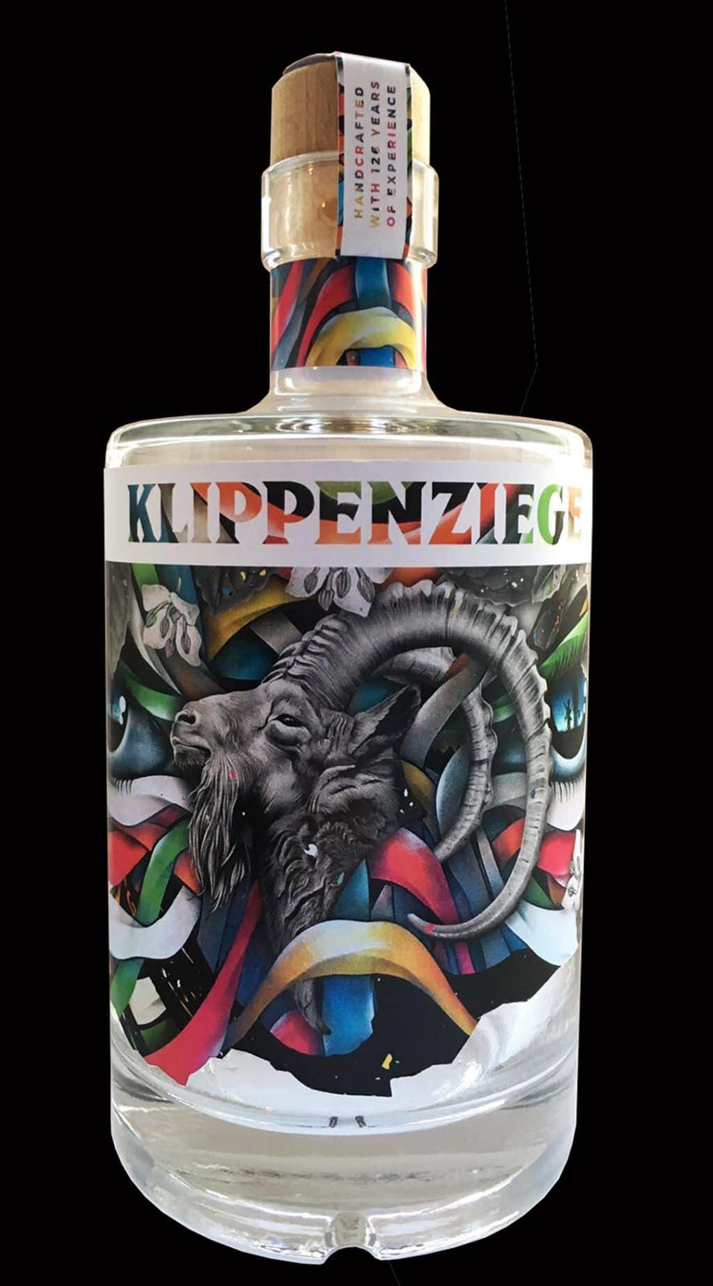 "Label design for ""Klippenziege Gin"""