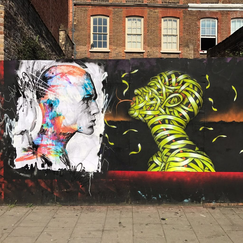 Otto Schade & Danny O'Connor – Collaborative piece in Hoxton Street, London