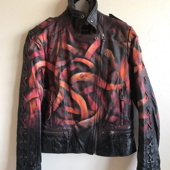 Otto-Schade-Galaxo-Girl-spray-painted-leather-jacket-front